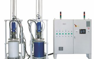 Mahr Meter Mix System Controls Up to 6 Drum Pumps for Thick Silicone Compounds